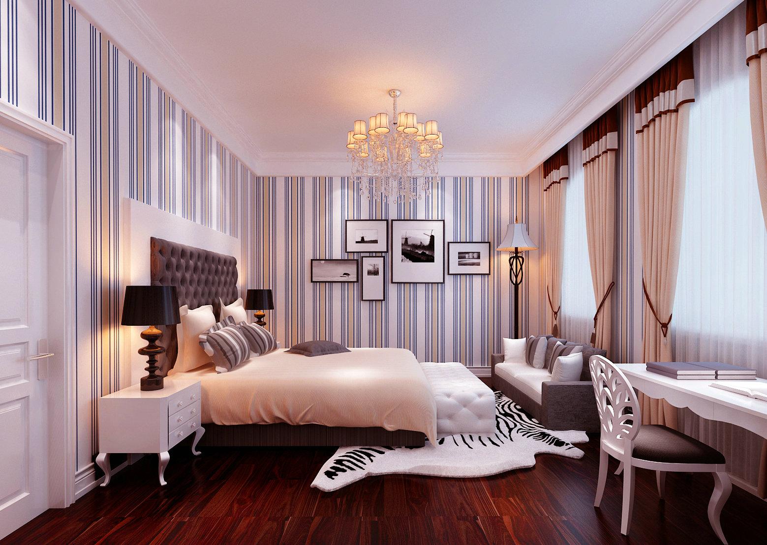 新中式 中西结合 别墅 装修案例 卧室图片来自实创装饰晶晶在600平混搭风势不可挡啊!的分享