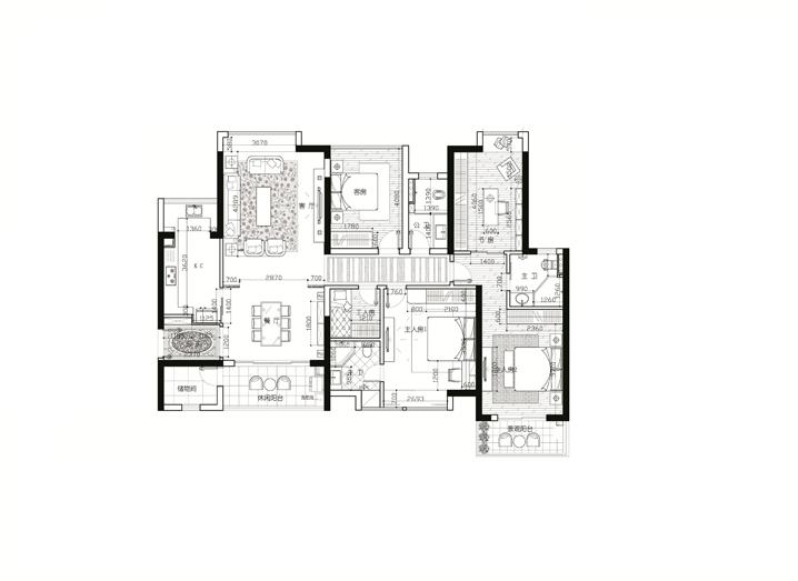 简约 中式 4居 458医院 家居 生活 设计 装修 报价 户型图图片来自曹丹在458医院-新中式风格-4居室的分享