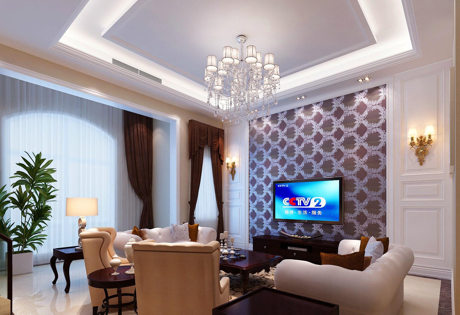 新中式 中西结合 别墅 装修案例 客厅图片来自实创装饰晶晶在600平混搭风势不可挡啊!的分享
