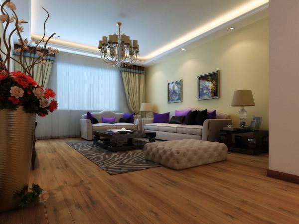 客厅:以简洁的白色混油造型电视墙和壁纸结合,温馨雅致。并且把到阳台的门做成隐藏门融合于电视墙中。使电视墙更佳的完整。使整个客厅简洁大气。