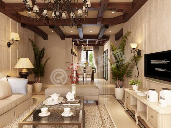客厅是入户后人们映入眼帘的第一风景,彰显了主人品位,是整套家装的灵魂所在