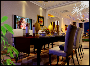 欧式 三居 文艺青年 公主房 小清新 餐厅图片来自今朝装饰——李胜晓在丰台的分享