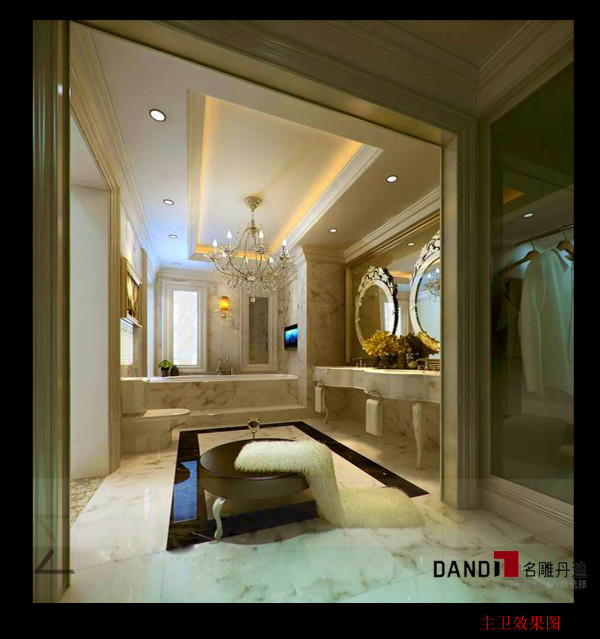 名雕设计——主卧卫生间