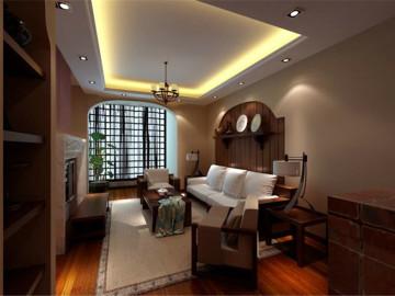 46平米一居室东南亚风格设计