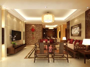 御东和府-现代中式风格-三居室