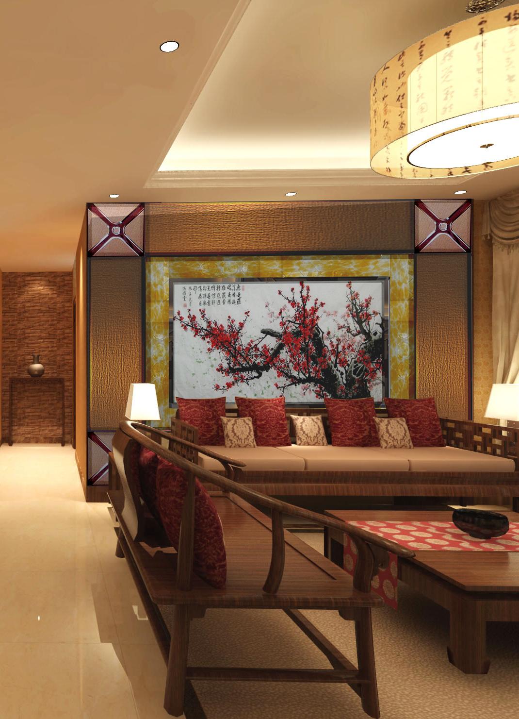 御东和府 现代 中式 140平米 三居 家居 生活 装修 报价 客厅图片来自徐丽娟在御东和府-现代中式风格-三居室的分享