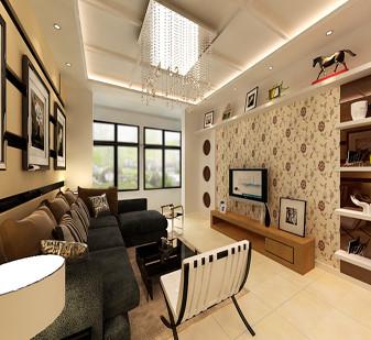 电视墙的设计实用现代吊顶风格活泼自然
