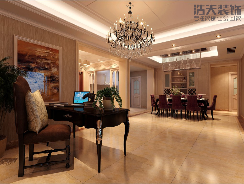 欧式 白领 收纳 80后 旧房改造 大气 上档次 奢华 餐厅图片来自用户5134260392在中洲中心公园的分享