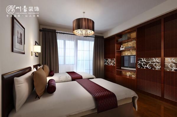 富士广场A座89㎡装修设计 卧室效果图,合肥川豪装饰公司。合肥装修公司。