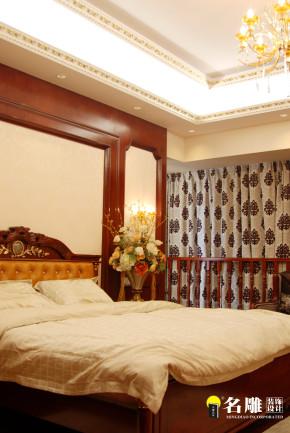 新古典 五居 低调奢华 高富帅 名雕装饰 客厅 卧室 卧室图片来自名雕装饰设计在新古典—285平五居室温馨家居的分享