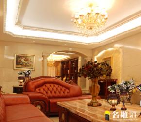 新古典 五居 低调奢华 高富帅 名雕装饰 客厅 卧室 客厅图片来自名雕装饰设计在新古典—285平五居室温馨家居的分享