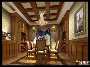 新古典 别墅 高富帅 别墅装修 餐厅图片来自名雕装饰邓工在新古典风格—250平豪华别墅装饰的分享