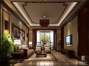 中式 公寓 80后 白领 高富帅 白富美 客厅图片来自北京高度国际装饰设计在旭辉御府中式公寓的分享