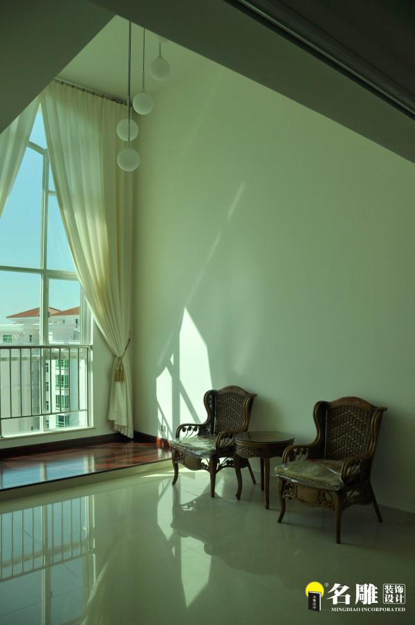 名雕装饰设计—现代风格—四居室—休闲阳台