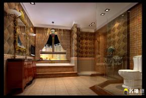 新古典 别墅 高富帅 别墅装修 名雕装饰 卫生间图片来自名雕装饰邓工在新古典风格—250平豪华别墅装饰的分享
