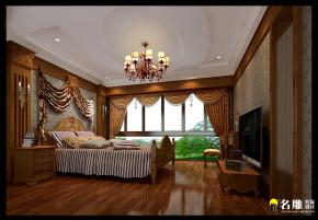 新古典 别墅 高富帅 别墅装修 名雕装饰 卧室 卧室图片来自名雕装饰邓工在新古典风格—250平豪华别墅装饰的分享
