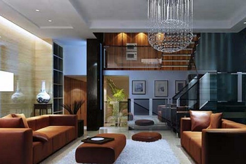 客厅是客人对主人房屋的第一印象,可以说客厅就是主人的门面,好的客厅设计让人眼前一亮的感觉。这款大户型华丽的客厅设计,多采用玻璃,给客厅带来通透感,很富现代气息。