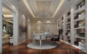 新古典 别墅 高富帅 银白光影 别墅装修 名雕丹迪 书房图片来自名雕丹迪在新古典—500平银白光影别墅装修的分享