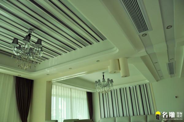 名雕装饰设计—现代风格—四居室—客厅吊顶
