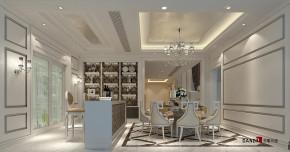 新古典 别墅 高富帅 银白光影 别墅装修 名雕丹迪 餐厅图片来自名雕丹迪在新古典—500平银白光影别墅装修的分享