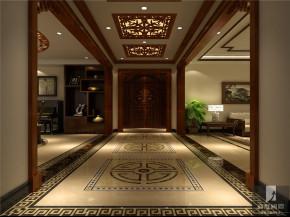 中式 公寓 80后 白领 高富帅 白富美 玄关图片来自北京高度国际装饰设计在旭辉御府中式公寓的分享