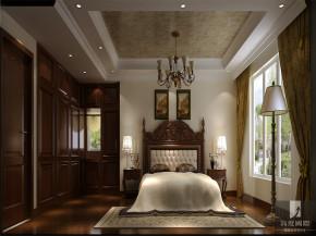 中式 公寓 80后 白领 高富帅 白富美 卧室图片来自北京高度国际装饰设计在旭辉御府中式公寓的分享