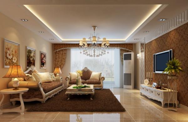 本方案为简欧风格,简洁而不失典雅的品味。客厅整体比较简单时尚,有欧式元素的加入显得更加温馨,更加体现家的美好