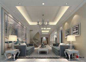 新古典 别墅 高富帅 银白光影 别墅装修 名雕丹迪 起居室 其他图片来自名雕丹迪在新古典—500平银白光影别墅装修的分享