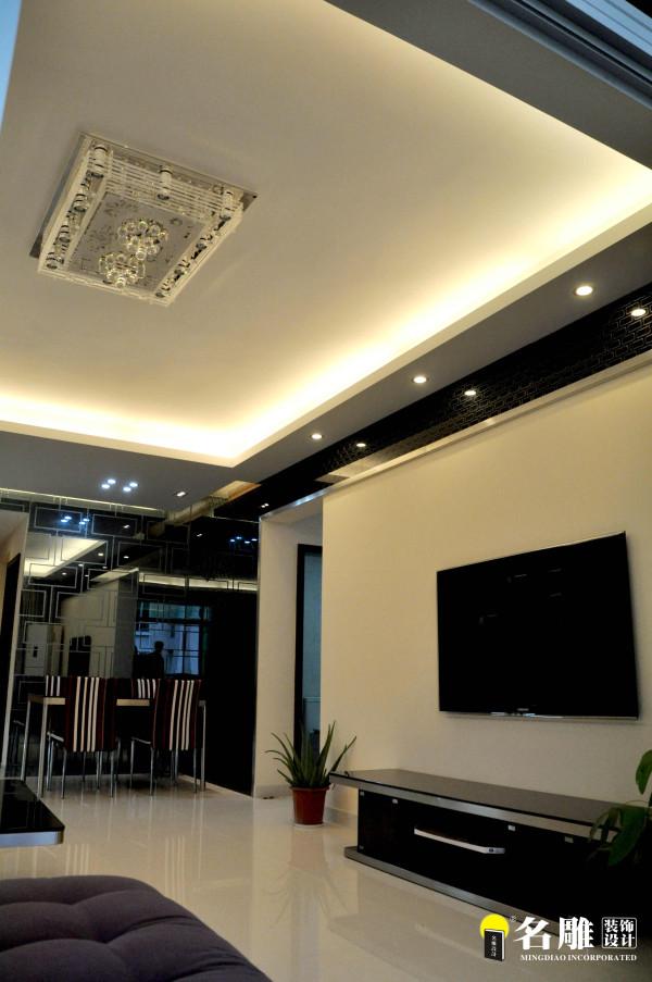 名雕装饰设计——三居室——客厅电视背景墙