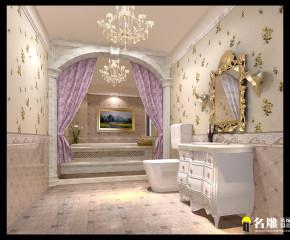 新古典 别墅 高富帅 别墅装修 卫生间图片来自名雕装饰邓工在新古典风格—250平豪华别墅装饰的分享