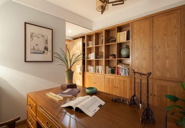 书房沿用古典风格。
