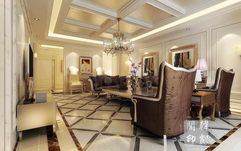 新古典 后奢 欧式 奢华 大平层 四居 客厅图片来自东易力天-韩凯闻在后奢-沉淀欧式新奢华的分享
