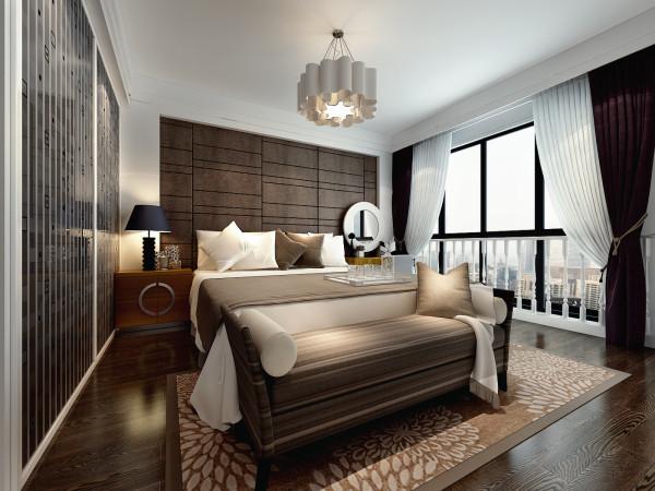 绿城翡翠湖玫瑰园190㎡现代简约装修设计 卧室效果图