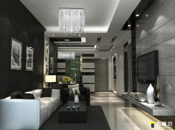 名雕装饰设计——鼎尚时代——I户型——客厅