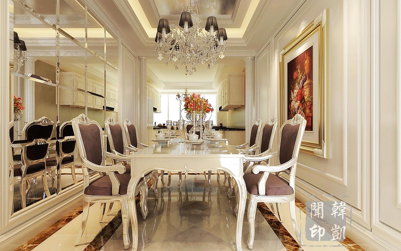 新古典 后奢 欧式 奢华 大平层 四居 餐厅图片来自东易力天-韩凯闻在后奢-沉淀欧式新奢华的分享