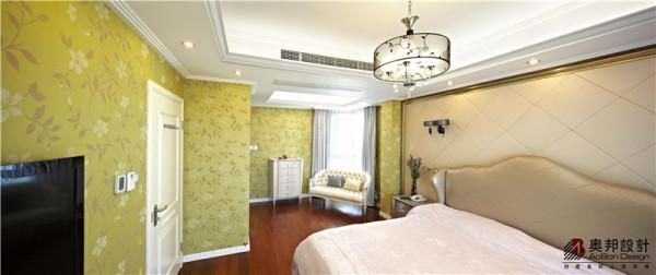 别墅户型现代欧式风格设计,奥邦装饰沈丽娜作品,卧室设计