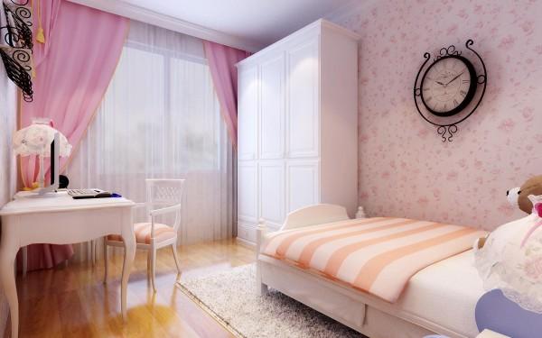 儿童房的地面地板材质有温暖的触感,并且能够适应孩子从幼儿期到青少年成长过程中的需要,既安全又方便清洁。