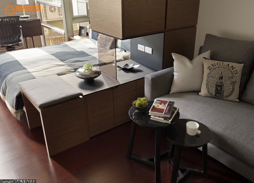 屌丝 蜗居 简约 小资 收纳 小清新 卧室图片来自幸福空间在沒30m²怎住? 城市阳光小宅的分享