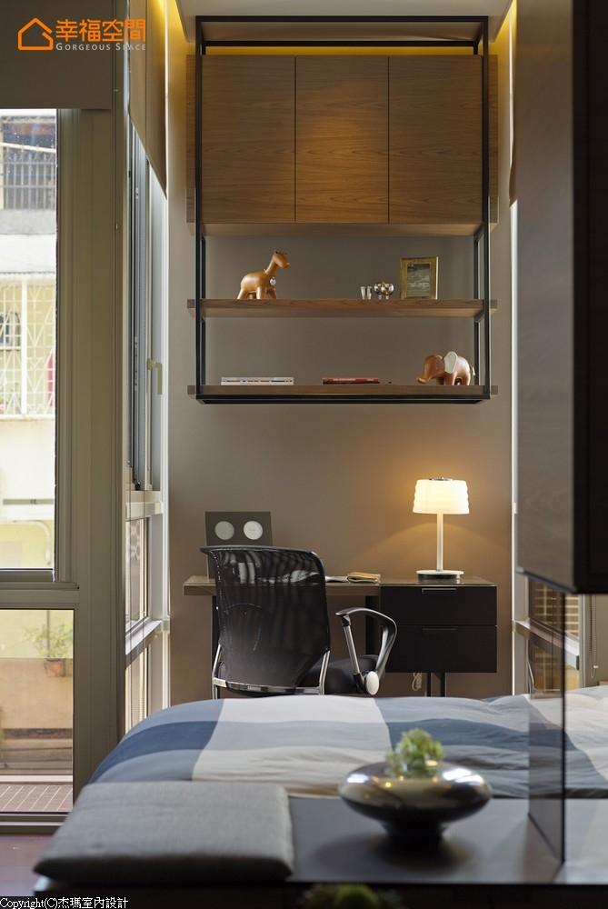 屌丝 蜗居 简约 小资 收纳 小清新 书房图片来自幸福空间在沒30m²怎住? 城市阳光小宅的分享