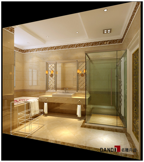 名雕丹迪设计——御泉山别墅——欧式风格——卫生间