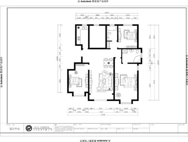 三室两厅一厨两卫的130平米的平层户型,入户处留有装饰柜或者鞋柜的装饰空间,右手边是次卧,进而是餐厅和客厅,客厅配有一个大阳台,利于采光。入户左手边分别是厨房、卫生间、干湿分离区和一个次卧。