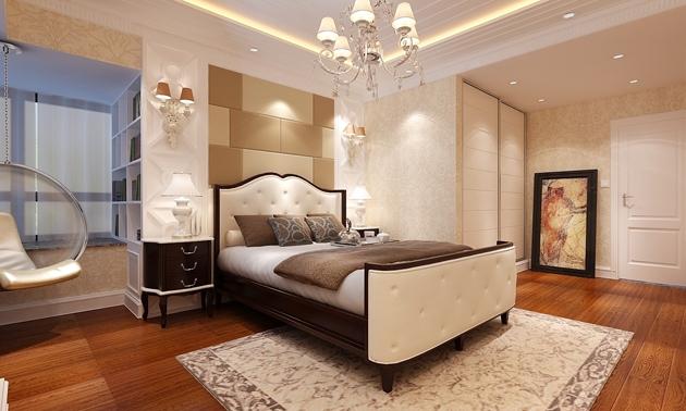 郑州 中央特区 三居室 现代风格 装修 效果图 样板间 设计 环保装修 卧室图片来自郑州业之峰装饰在流金啡语幽静的山谷的分享