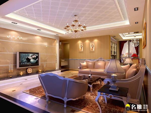 名雕装饰设计—信义长安三居室-后现代-客厅