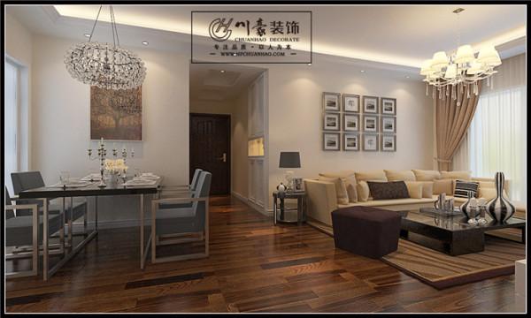 本案主打简约欧式风格,对于空间和细节的把握与众不同,结合住宅的特点,运用了大量别出心裁的设计。为了营造出丰富的效果,整个设计采用了大量不同的材料、线条以及图案,不同的特点产生不同的美感。川豪-张凌