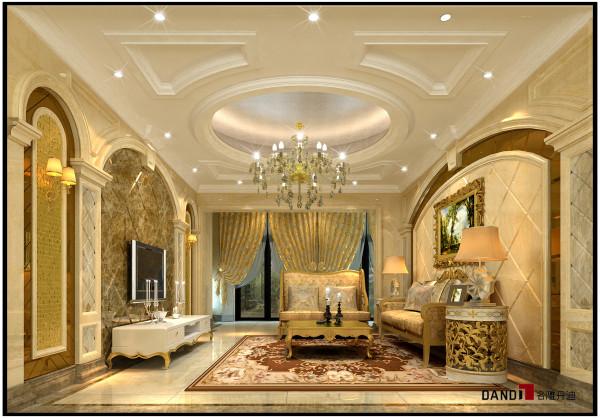 名雕丹迪设计——御泉山别墅——欧式风格——家庭厅