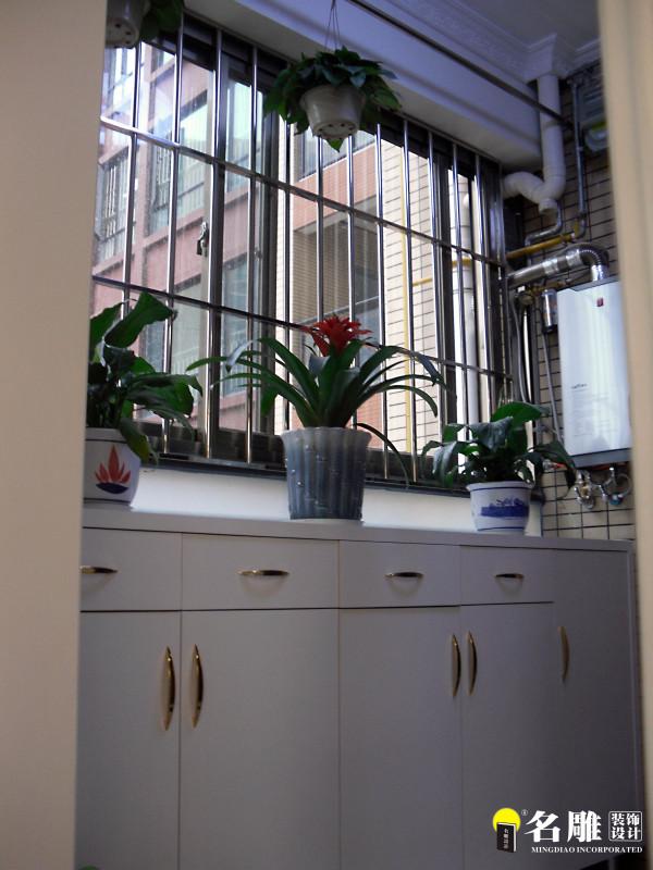 名雕装饰设计-长安花园三居室-现代简约风格-窗台