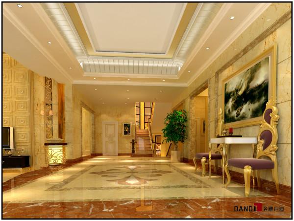 名雕丹迪设计——御泉山别墅——欧式风格——过厅