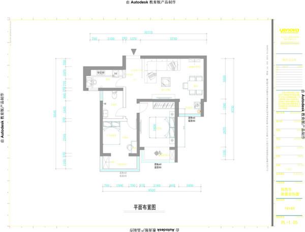 户型位于鑫苑世纪东城3号楼设计图纸,户型结构比较方正,本方案是业之峰设计中心刘宇设计。