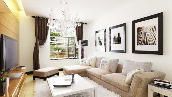 客厅采光比较好 整个空间的动线一目了