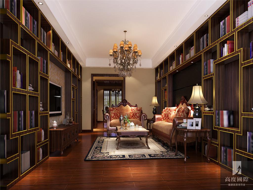 简约 中式 三居 公寓 80后 小资 白领 高富帅 白富美 书房图片来自北京高度国际装饰设计在西山壹号院简约中式案例的分享